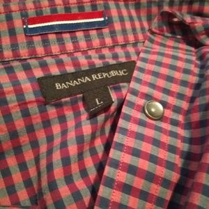 Banana Republic short sleeve button-down